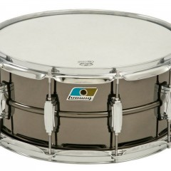 "Ludwig Black Beauty supraphonic Blue-Olive badge 6.5"" x 14"""