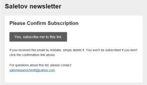 confirm subscription