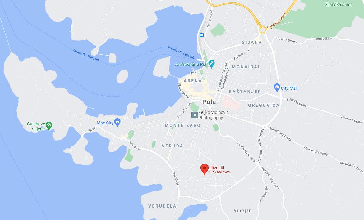 OPG Rakovac lokacija